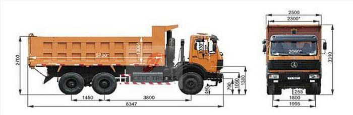 Beiben 2529 6*4 dump truck