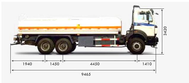 beiben 10 wheeler water tanker truck