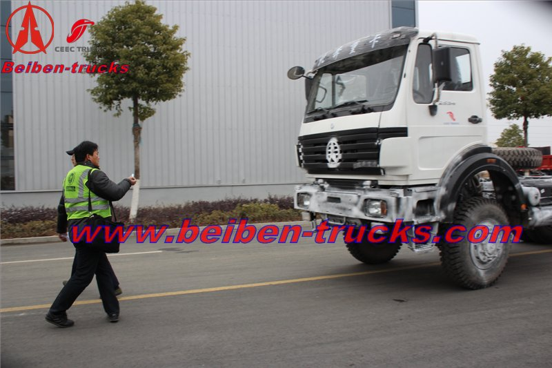 congo customer order 10 units beiben 6 wheel drive truck chassis