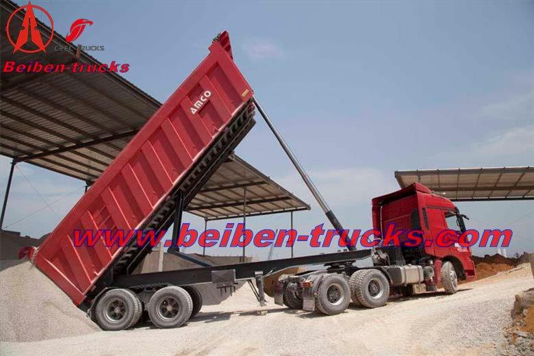 Lebanon customer order beiben V3 tractor trucks and tipper semitrailer