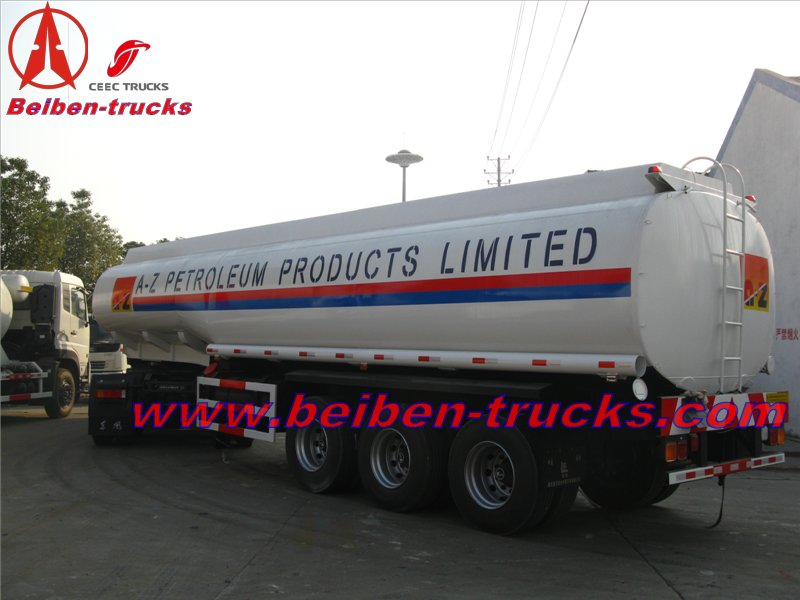 Ethopia customers order 100 units fuel tanker semitrailer