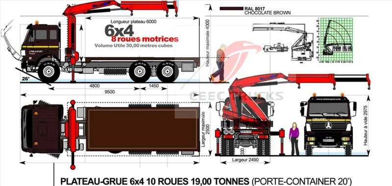 The technical parameters of 16ton truck mounted crane