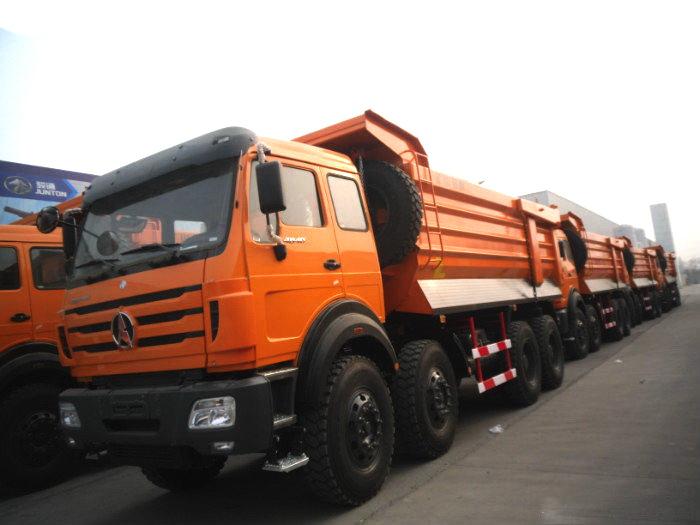 12 wheeler beiben dump trucks are exported to mogolia country.