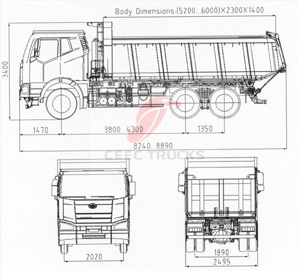China North Benz Truck 20ton Dump Truck 10 Wheels Beiben Tipper Truck Low Price p421 on fuel system
