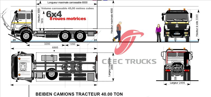 beiben heavy duty tracteur camions supplier