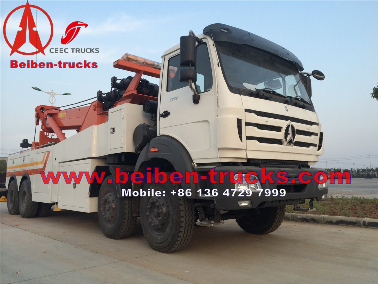 North benz right hand drive heavy duty recovery truck