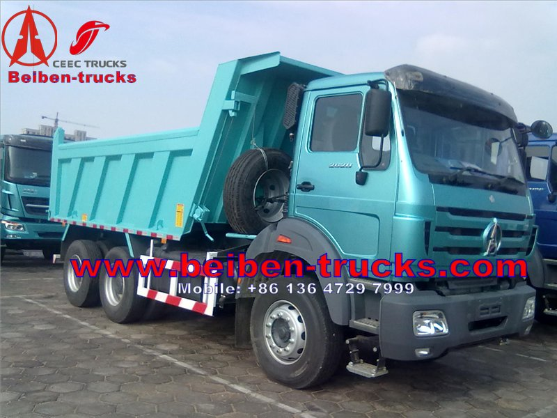 beiben dump trucks for africa customer