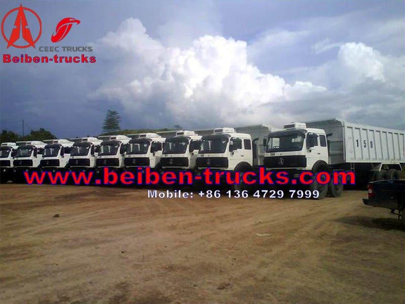 Beiben 12 wheeler dump truck 3142 type