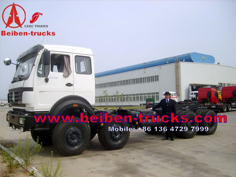 beiben 8 wheel drive truck chassis