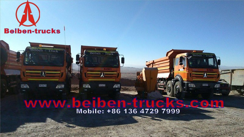 north benz 12 wheeler dump trucks for exporting