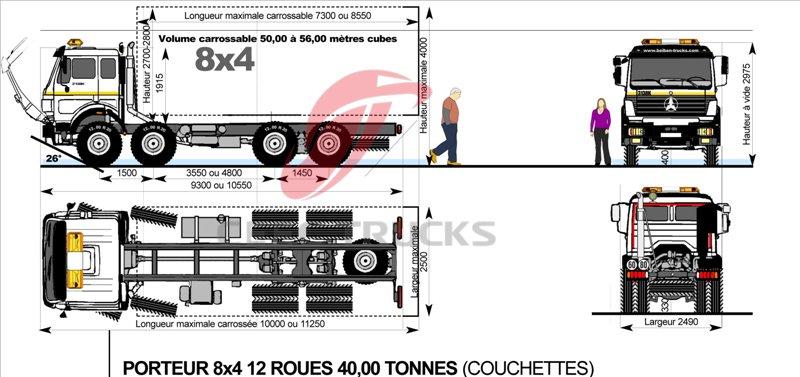 beiben 8*4 drive dump truck