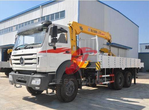 beiben 10 T truck mounted crane