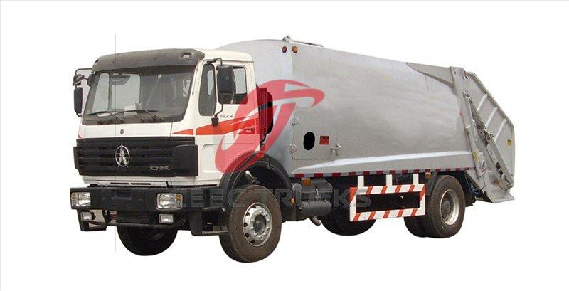 beiben garbage compactor truck