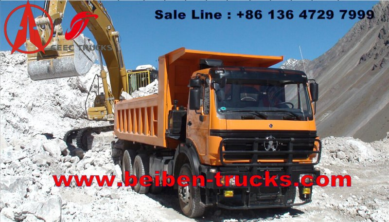 beiben 380 hp engine dump truck