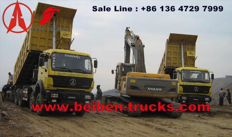 china beiben 60 T tipper trucks supplier