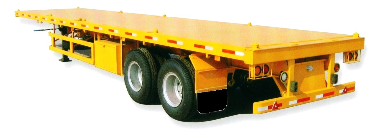 bogie suspension container semitrailer