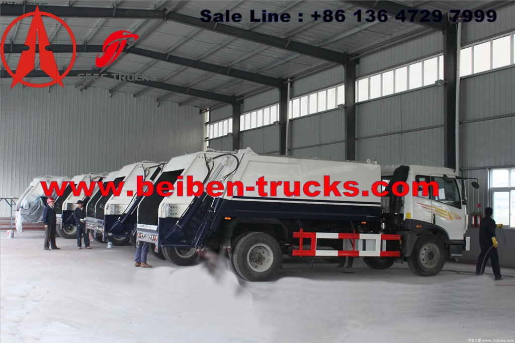north benz 10 cbm garbage compactor truck