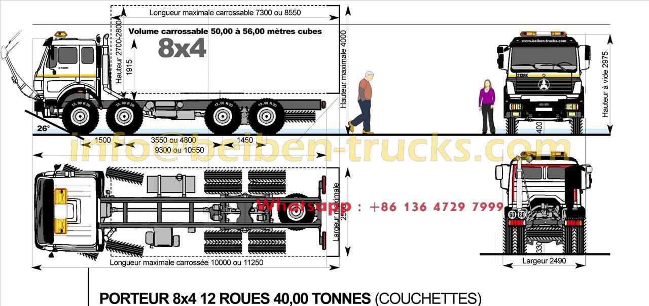 beiben 2538 u type dump truck