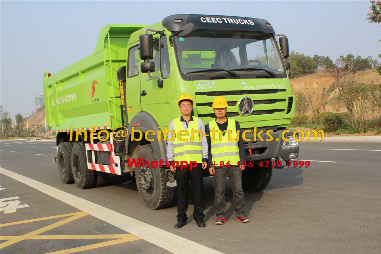 China manufacturer 10 wheel 20 ton sand tipper truck Beiben dump truck