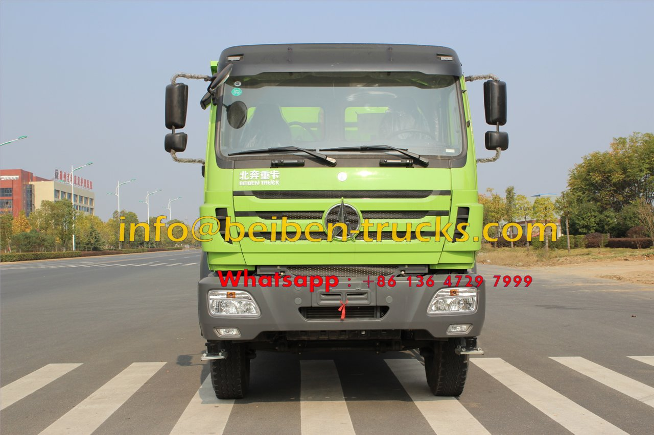 Chinese Truck Euro3 380hp air condition Beiben dump truck