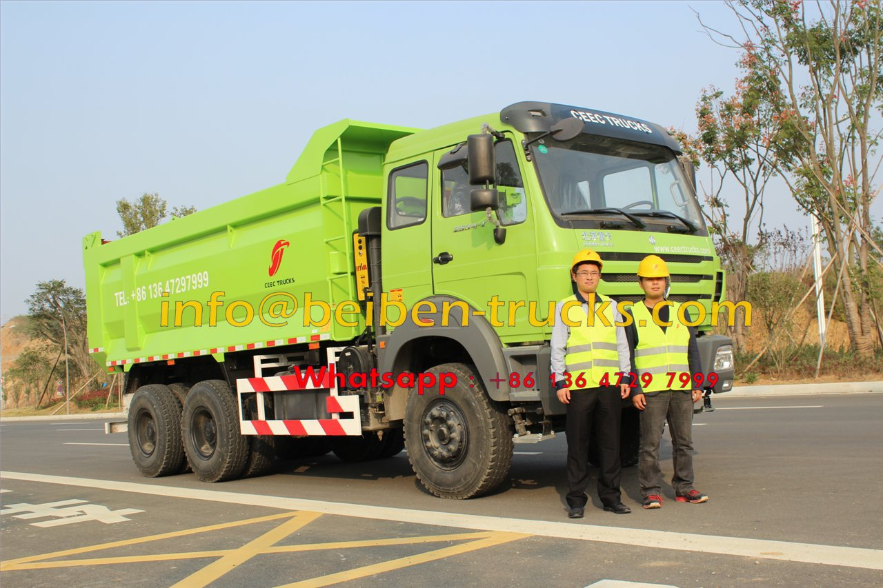 Using Mercedes-Benz Technology China beiben 30 ton dump truck sale