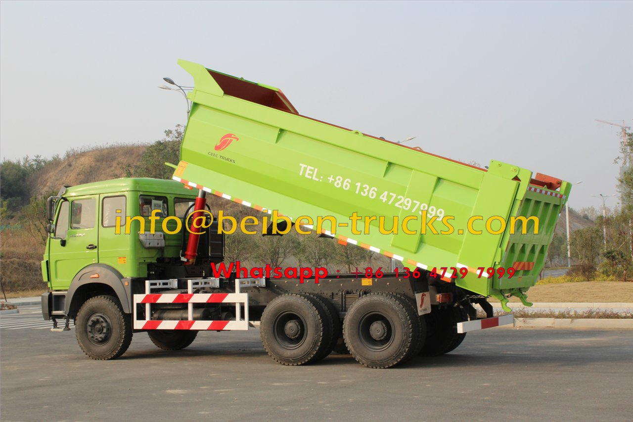 Use Mercedes Benz Technology 340hp & 380hp Beiben North Benz Dump Truck For Algeria