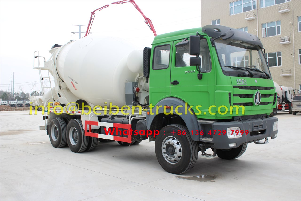 north benz 10 CBM concrete mixer truck