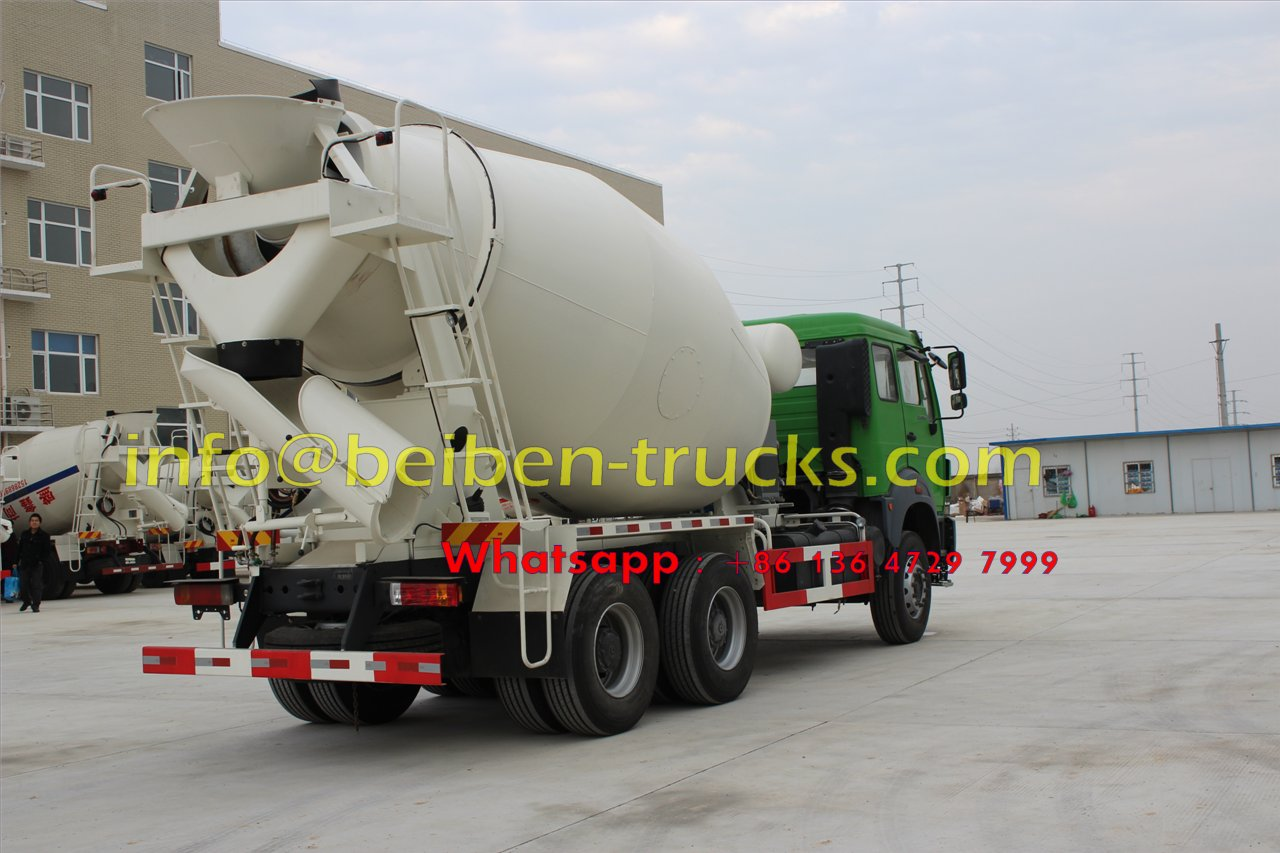 Military quality hot sale Beiben 6x4 5m3 capacity concrete mix truck