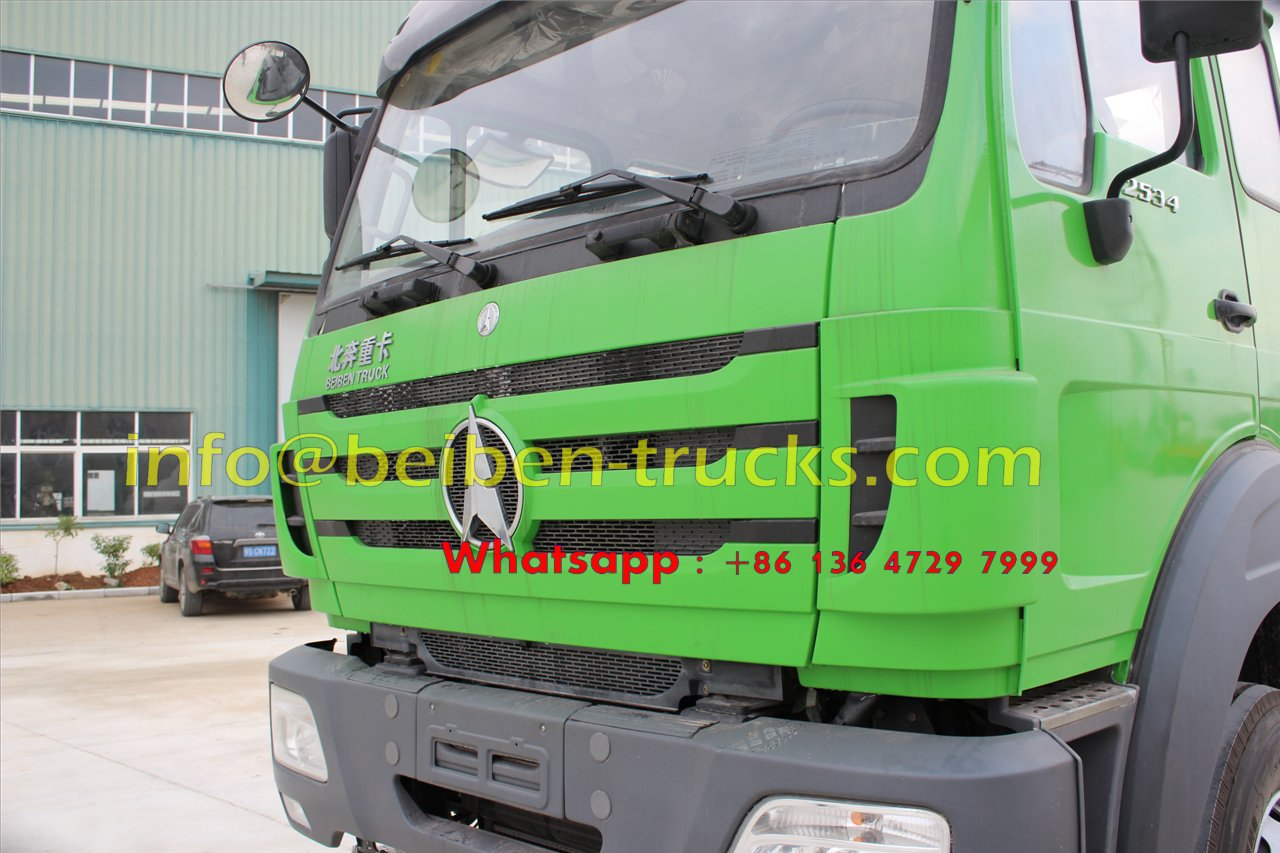 Using Benz technology Beiben 6x4 5m3 concrete mixer truck hydraulic pump