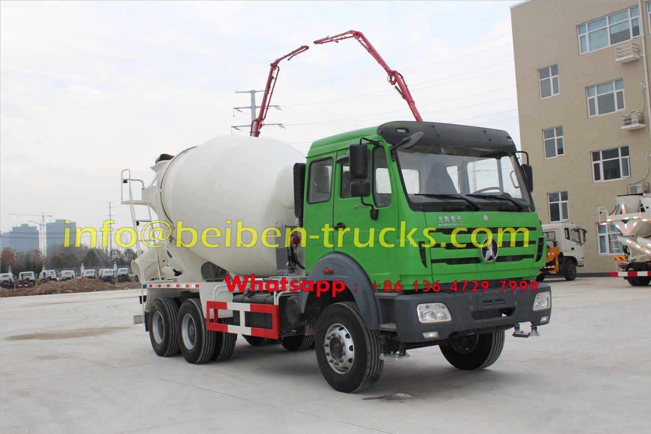 Using mercedes benz technology Beiben 10 wheel 5 cubic meters concrete truck