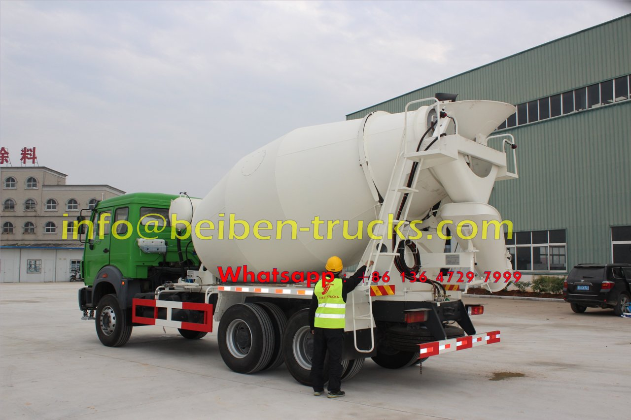 North Benz cement transit vehicle concrete mixer truck weight