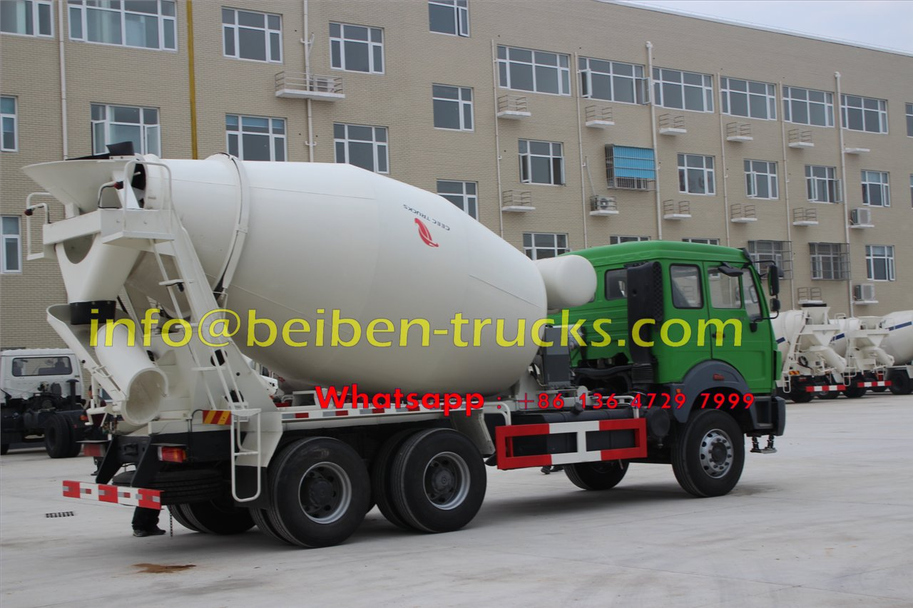 Famous brand Beiben 336hp concrete mixer truck cheap price