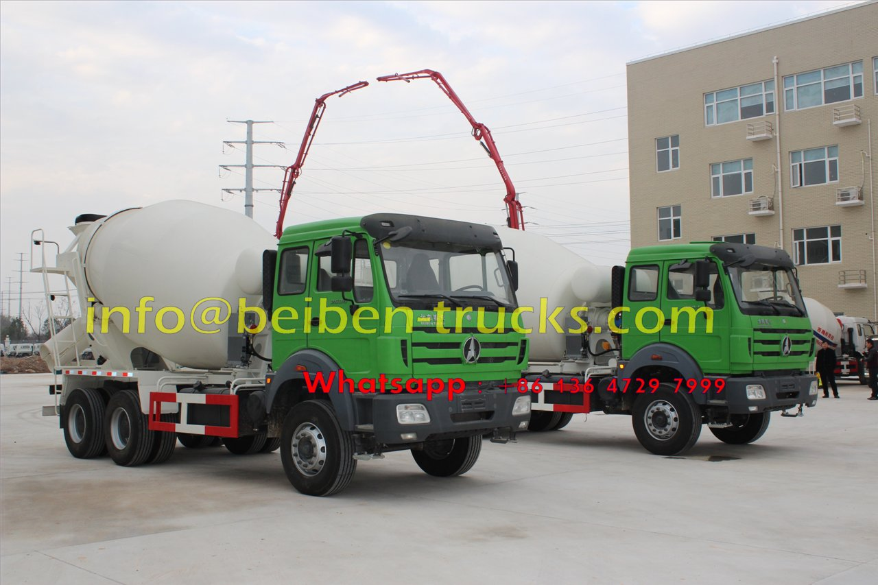 China famous brand Beiben 8 cubic meters concrete mixer truck