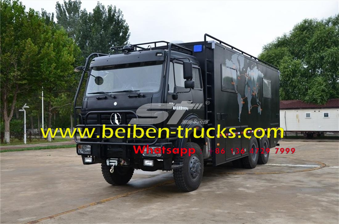 beiben 6*6 recreational vehicle