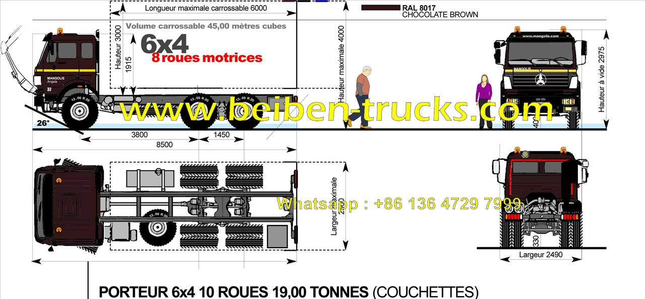 beiben 30 T dump truck supplier in china