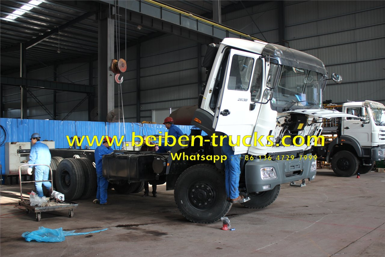 Beiben 2638 off road water tanker trucks