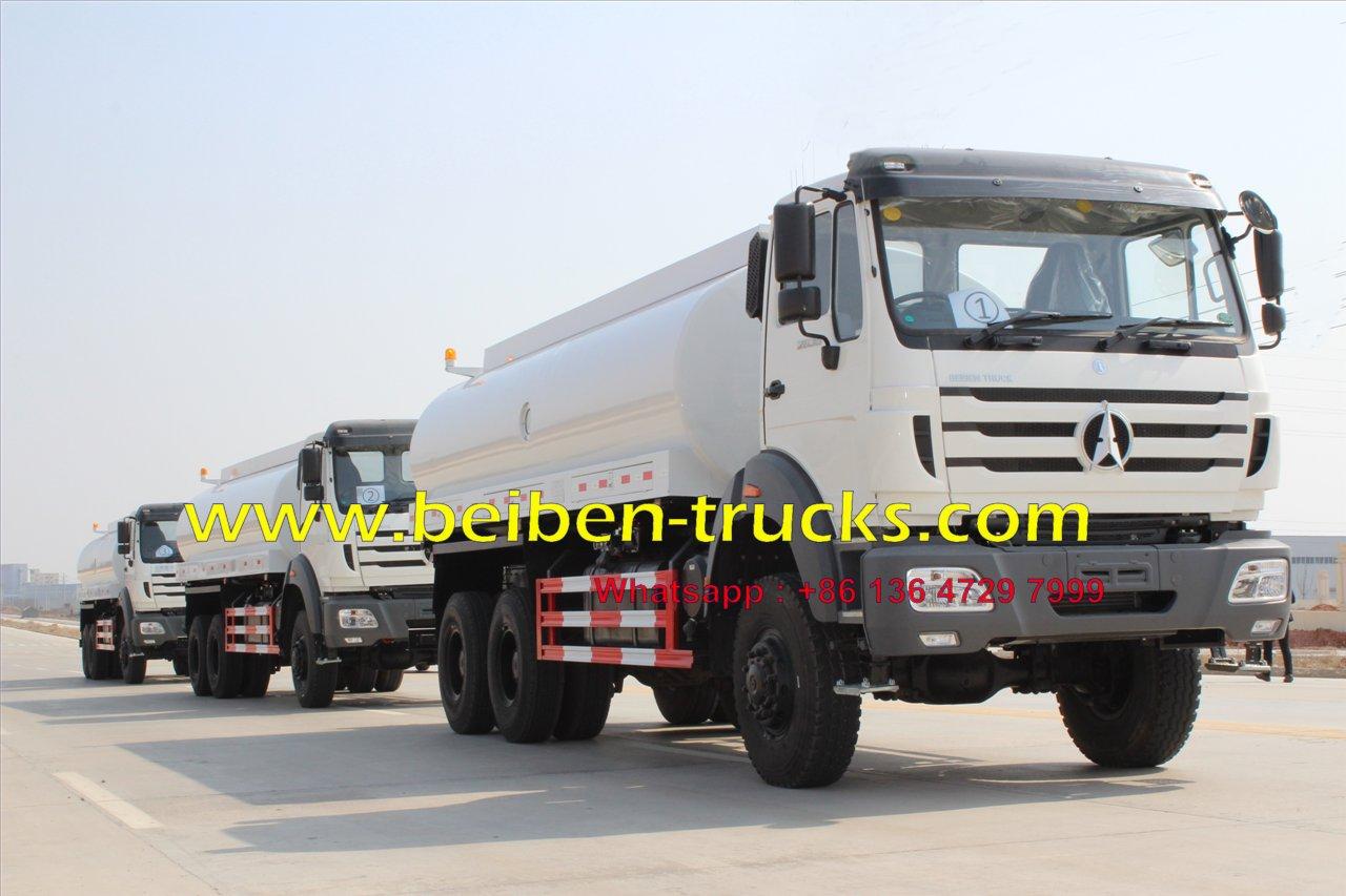 Beiben 6x6 water tank truck 10-20m3 tanker truck