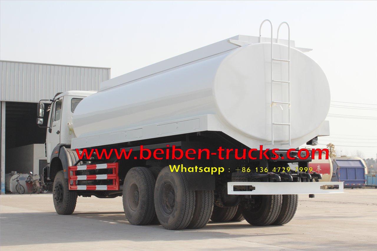 Beiben 6x4 5000 gallon diesel water sprinkling tank truck