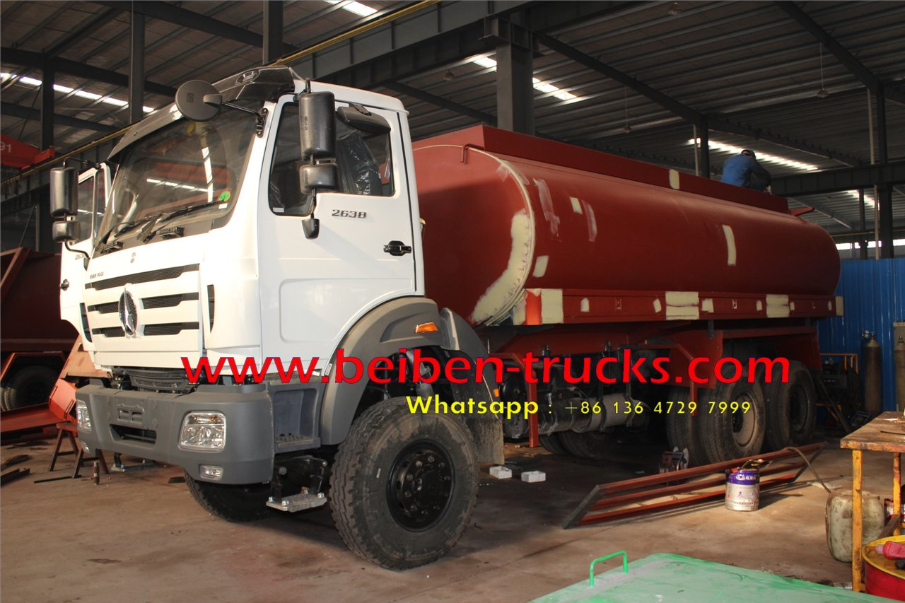 top china brand beiben 2638 off road water truck for sale