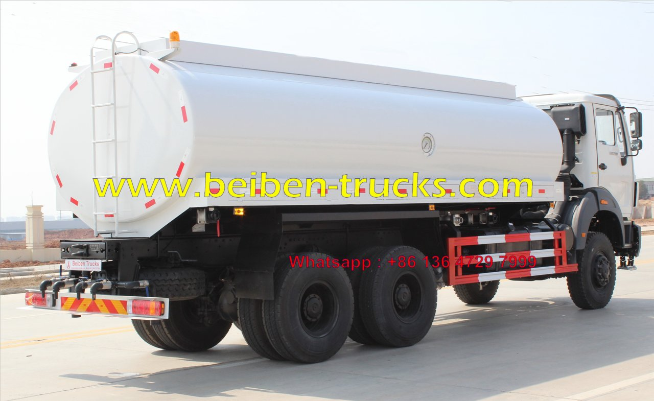 Kenya best quality beiben 20 CBM water truck supplier.