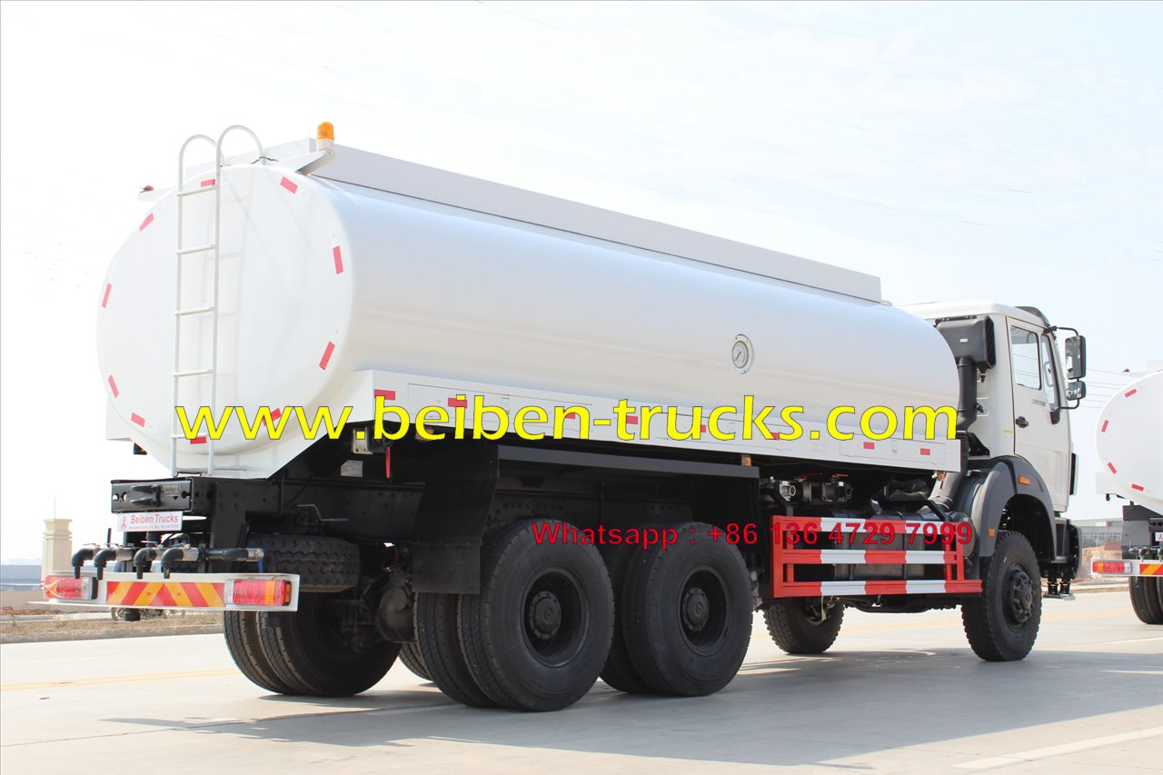CHINA good quality Beiben 20m3 tanker truck capacity water tanker truck for sale