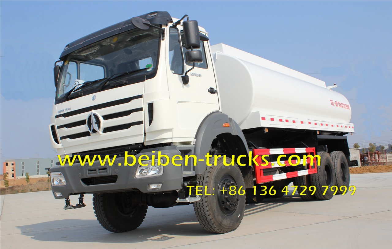 Beiben Off Road 6*6 Water Bowser Truck 20Cbm Contact 15897603919 1. Beiben Off Road 6*6 Water Bowser Truck is also named Water Tanker truck, water sprinkler truck, Pesticide spraying Truck, water fire truck, Multifunction water truck, water spray veh