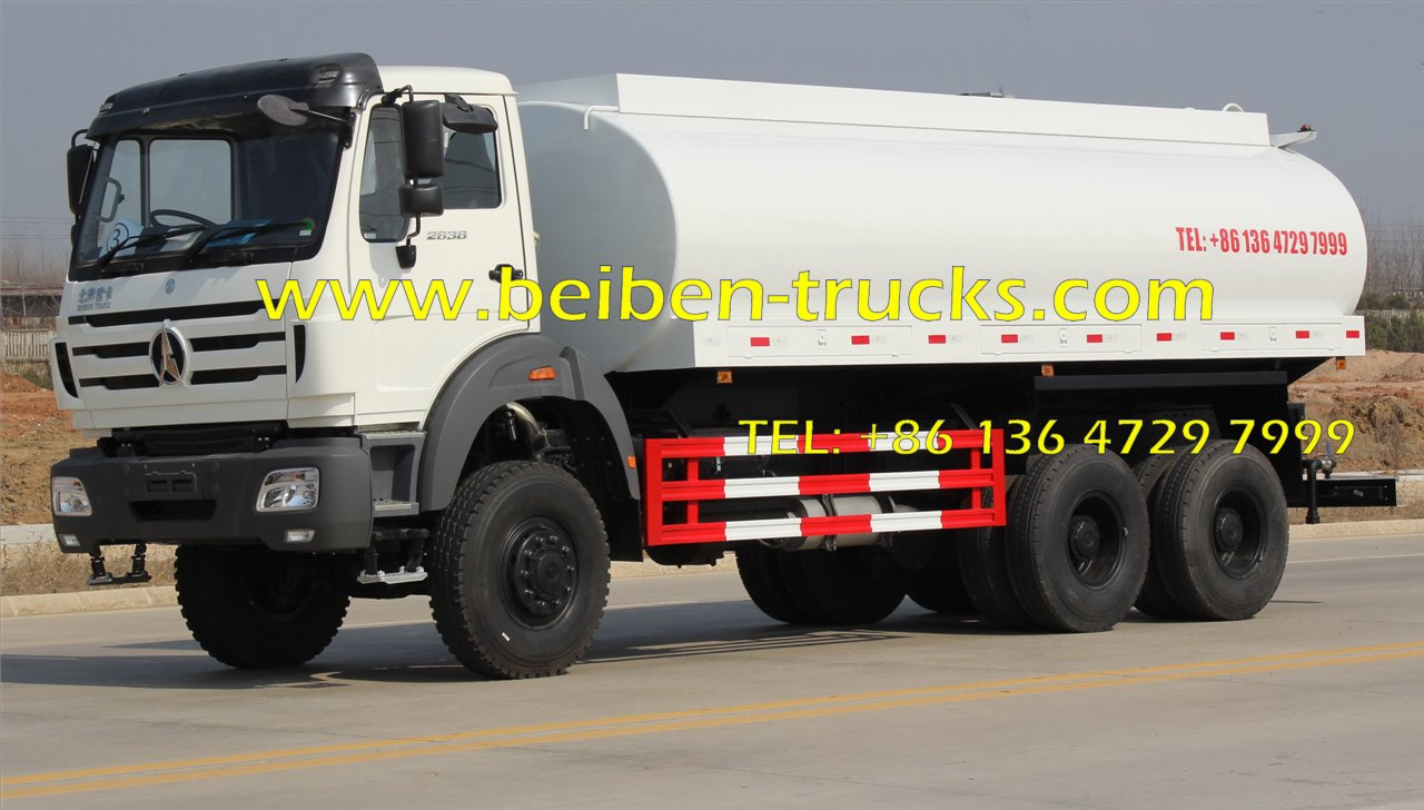 20m3 BEIBEN Water transportation stainless steel water tank truck