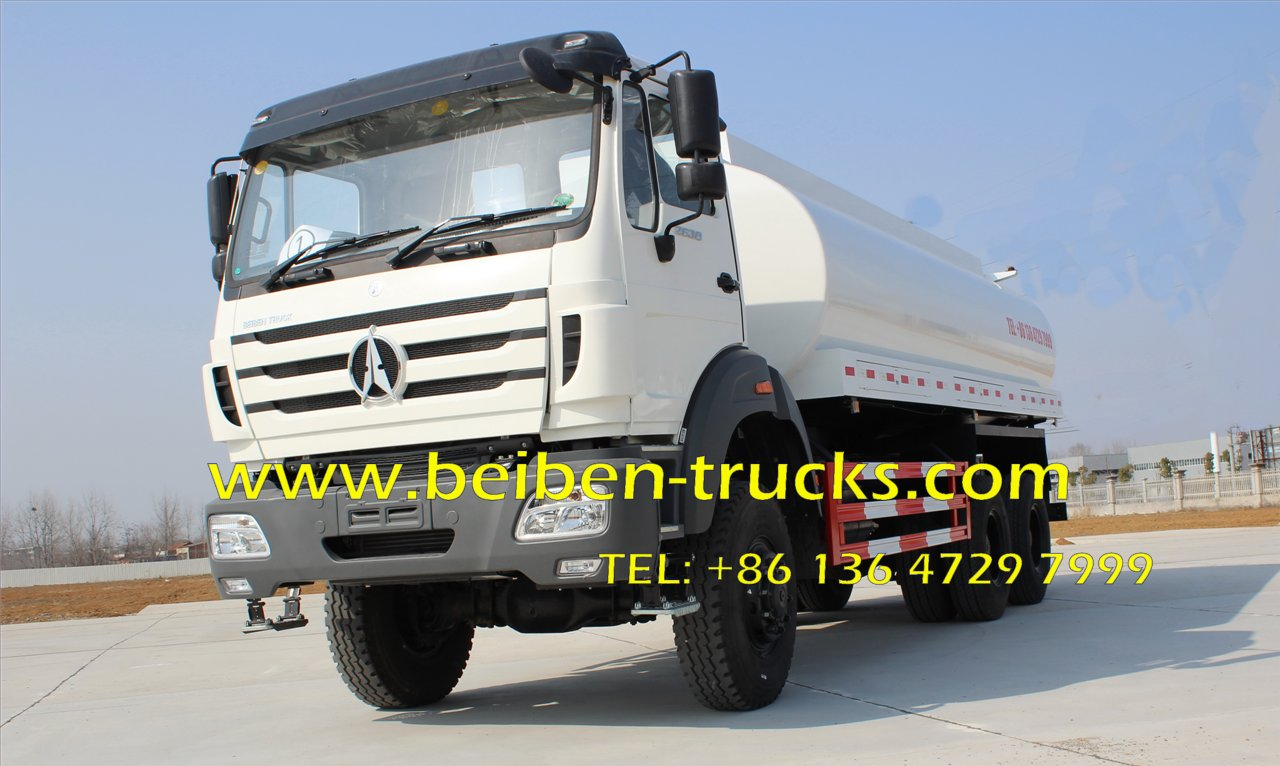 North Benz NG80 6x4 power star 20 ton water tank truck