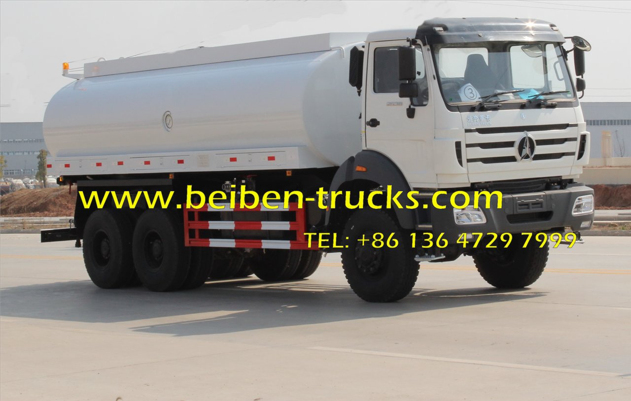 Beiben NG80 6x4 20 cubic meters power star water tankers for sale