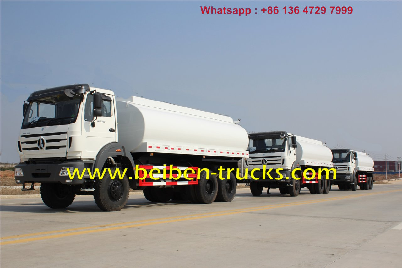 North benz NG80 6x4 336hp water tank truck for sale in constructon