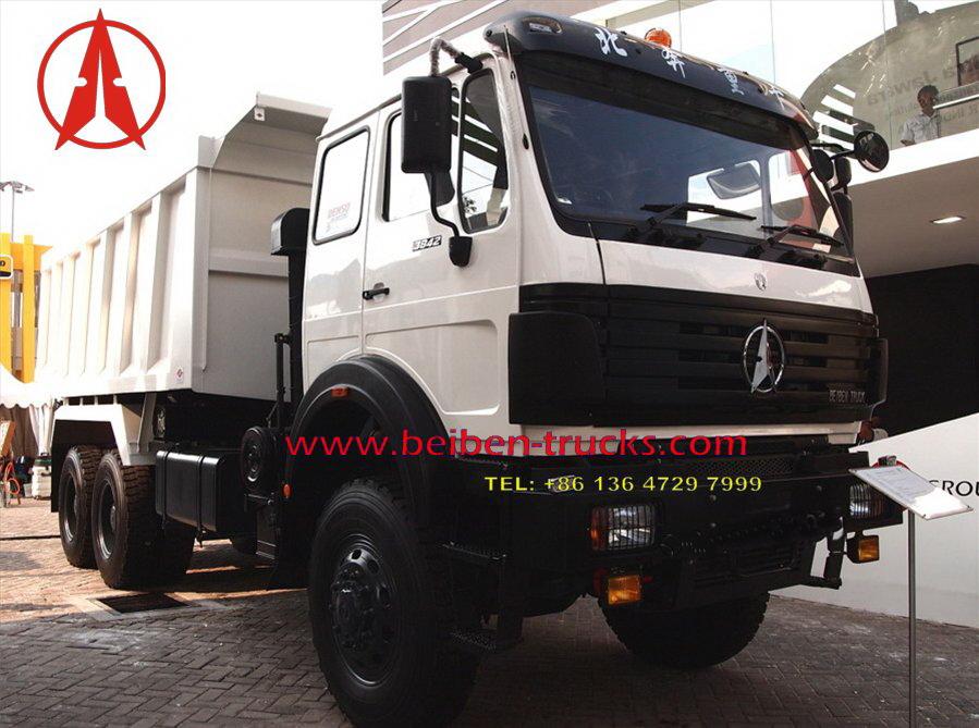 beiben 6*4 dump truck with 360 hp engine