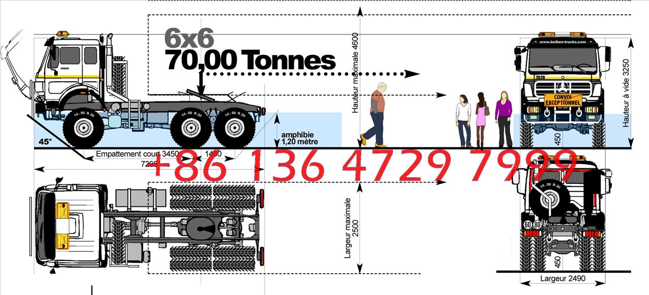 beiben 2538 CNG trailer truck