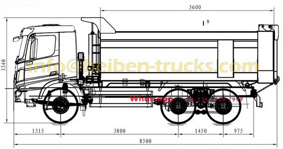 beiben 2534 tipping truck supplier