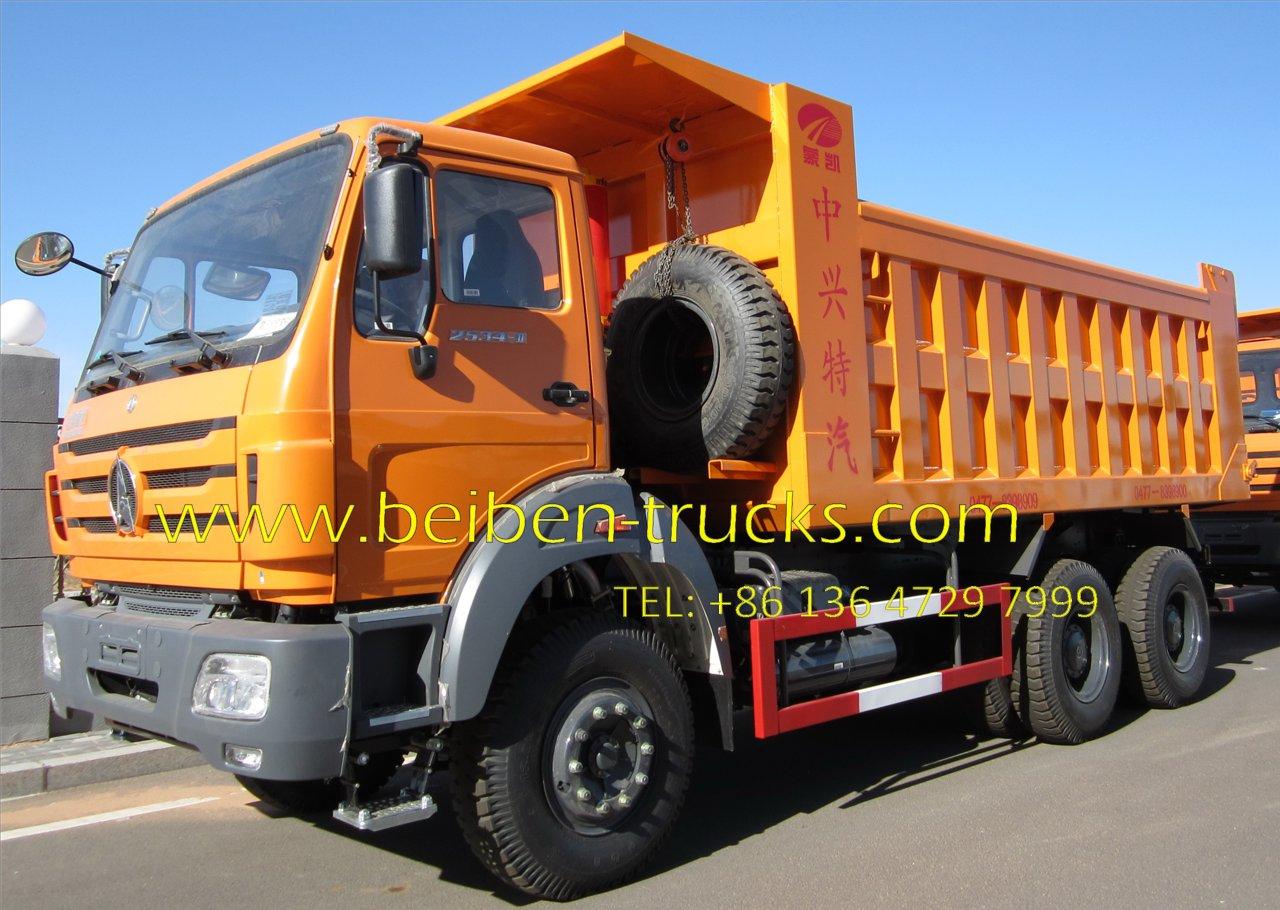 Beiben 6*6 drive dump truck